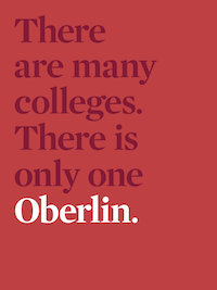 Read on Issuu.com. Cover text: There are many colleges. There is only one Oberlin.