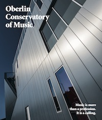 Open on Issuu.com. Cover text: Oberlin Conservatory of Music: Music is more than a profession. It's a calling.