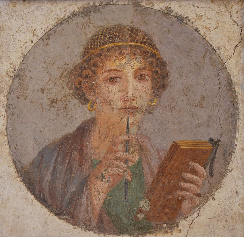 Fresco of a woman from Pompeii, Naples Archaeological Museum,
