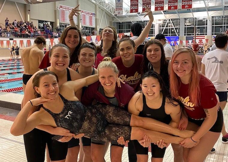 Women's Swim Team Post Conference