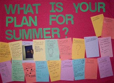 "Dorm board: ""What is your plan for summer?"""
