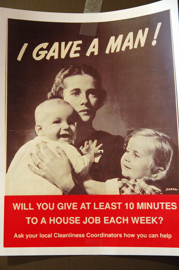 mock world war 2 poster: Will you give at least 10 minutes to a house job each week?