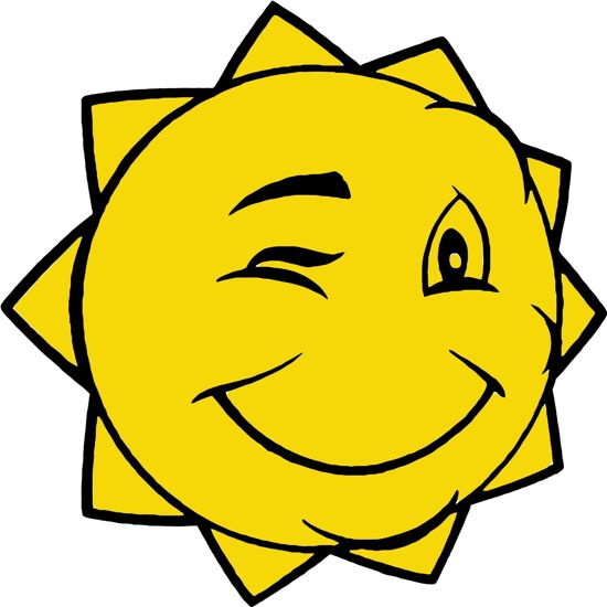 Graphic of a winking sun