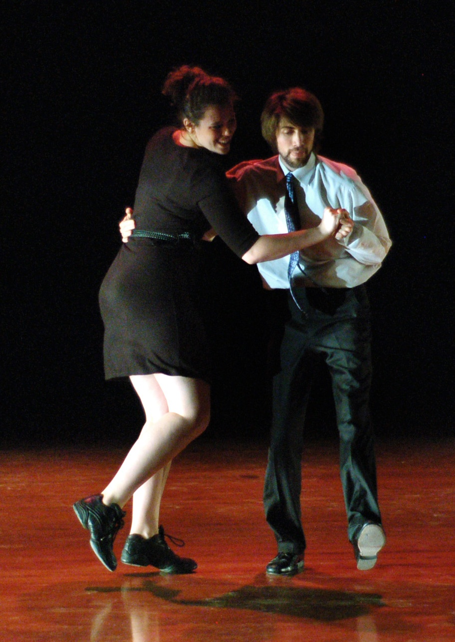 Two students partner dancing