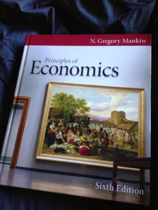 Textbook: Principles of Economics Sixth Edition by N. Gregory Mankiw