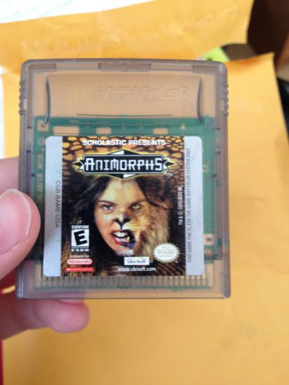 """Animorphs"" gameboy game disk"