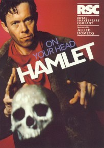 Poster for On Your Head Hamlet by Royal Shakespeare Company, sponsored by Allied Domecq