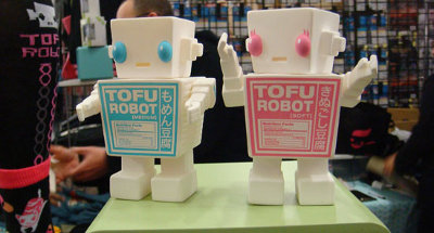 Tofu robots on display