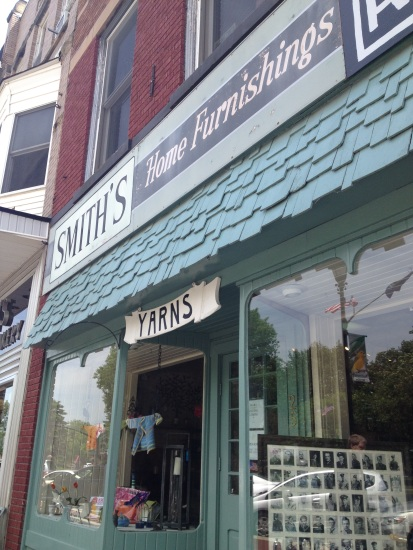 Store front: Smith's Home Furnishings, Yarns