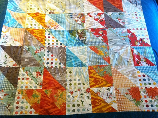 A colorful quilt