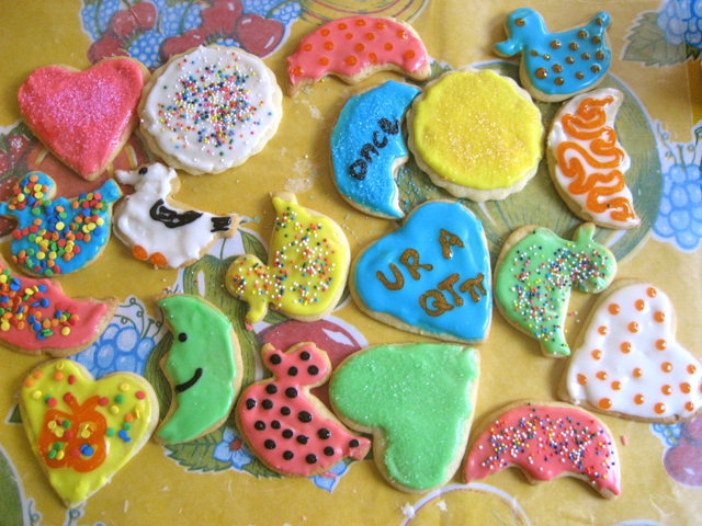 Colorful decorated cookies