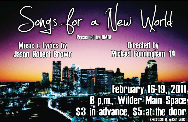 """Songs for a New World"" poster"