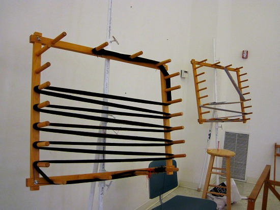 A warping board used for measuring out threads
