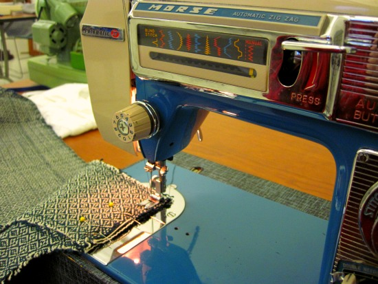 The sewing machine used for making the fabric
