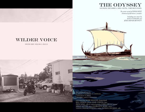 Cover of Wilder Voice magazine. The feature story is titled The Odyssey.
