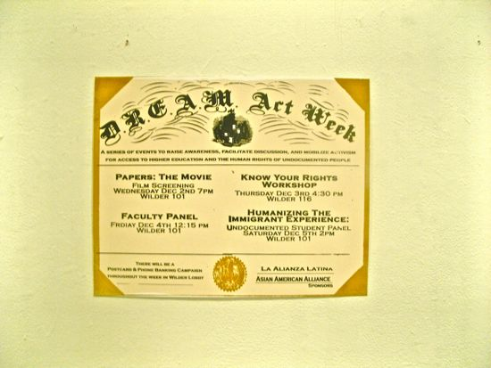 """DREAM Act Week"" print poster"