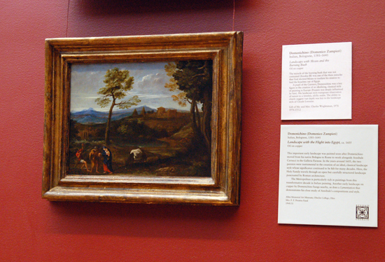 Domenichino's painting entitled Landscape with Flight into Egypt
