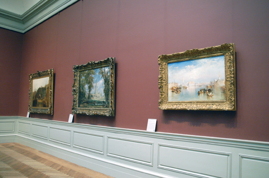 Turner's painting entitled View of Venice (right)