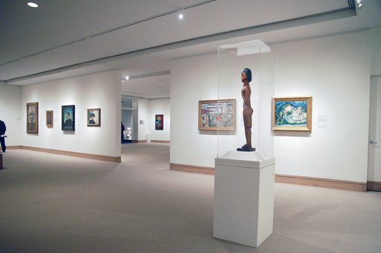 A side view of the Kirchner sculpture entitled Standing Female Nude