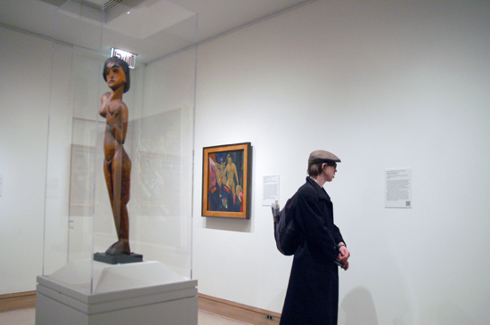 A view of the Kirchner sculpture entitled Standing Female Nude