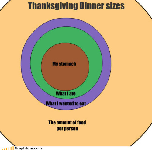A graphic of thanksgiving dinner portions