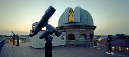 Roof view of Peters' observatory