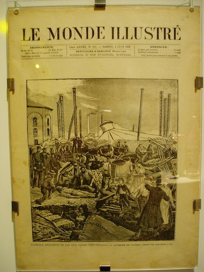 "An old paper with the title ""Le Monde Illustre"""
