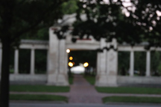 Memorial Arch (out of focus)