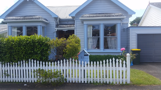 A home with a picket fence