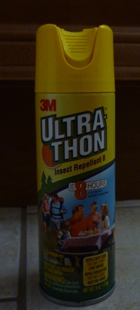 A spray can of 3M Ultra Thon insect repellant