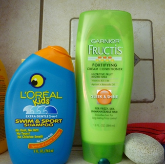 L'Oreal Kids shampoo and Garnier Fructis conditioner