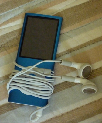 iPod with ear buds