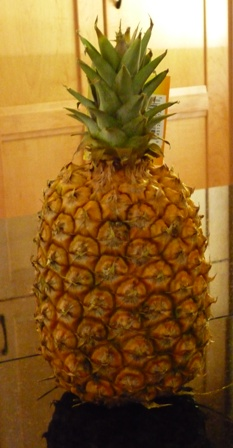 A fresh pineapple