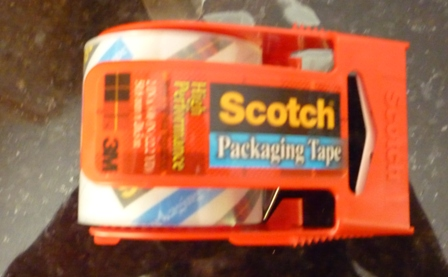 Scotch packaging tape.
