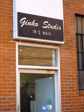 View of the back entrance to Ginko Gallery & Studio