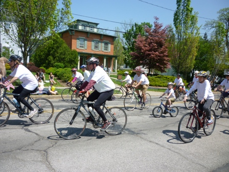A group of bicyclists in the parade