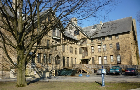 Rear view of Talcott Hall