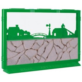 A graphic image of an ant farm