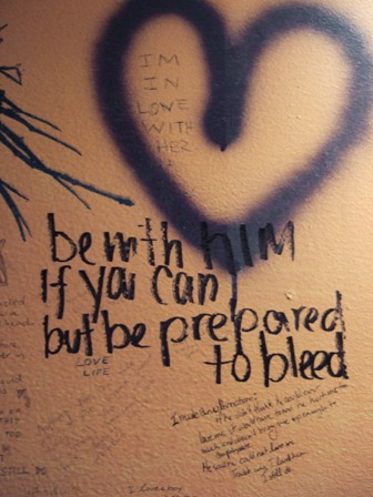 "The phrase: ""be with him if you can but be prepared to bleed"""