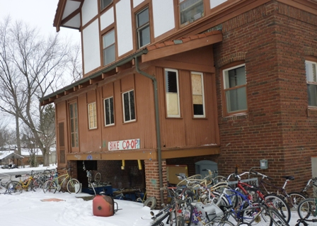 Exterior of the Bike Coop