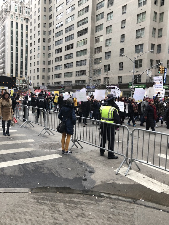 Women's March in the streets of New York City.