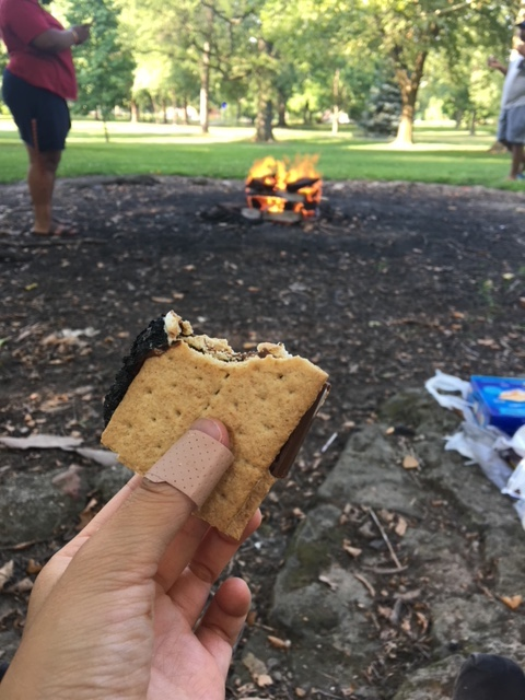 S'mores by the fire.