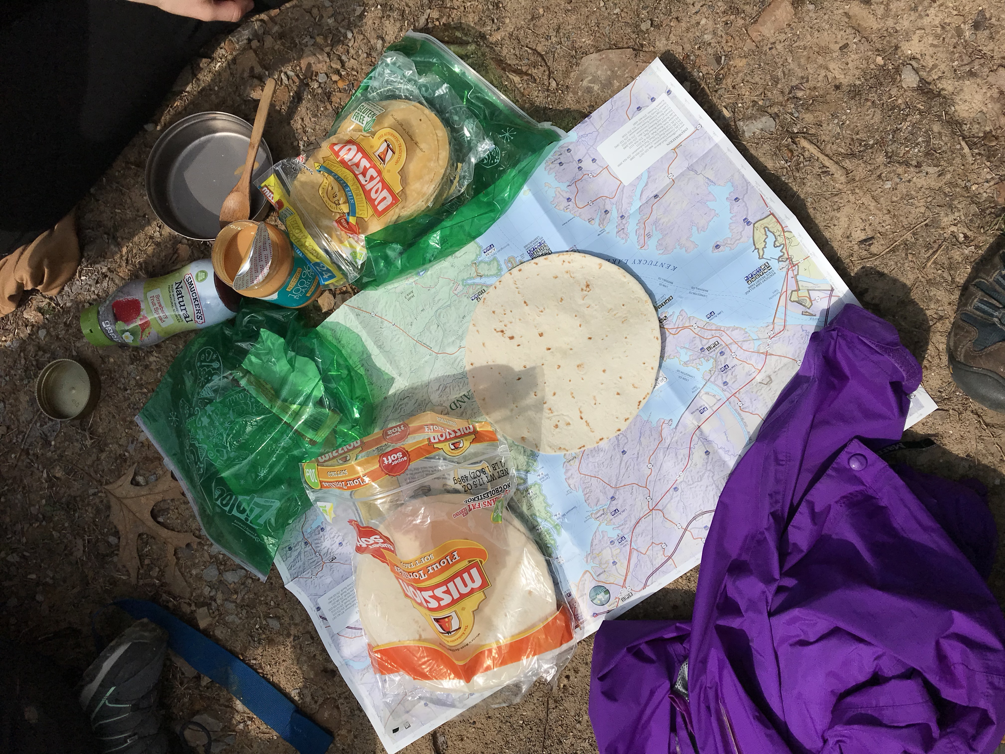 food on the trail