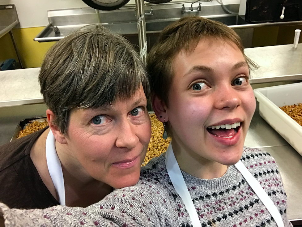 mom and ruth kitchen selfie