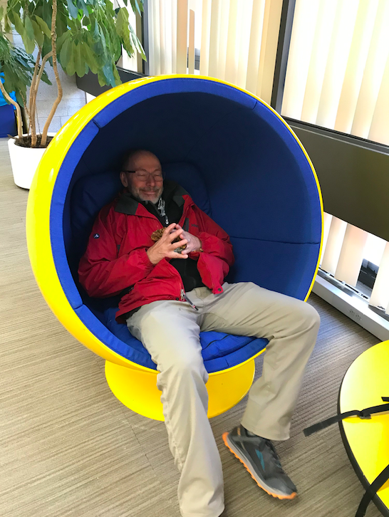 Dad in womb chair