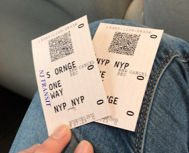 NJ Transit Ticket