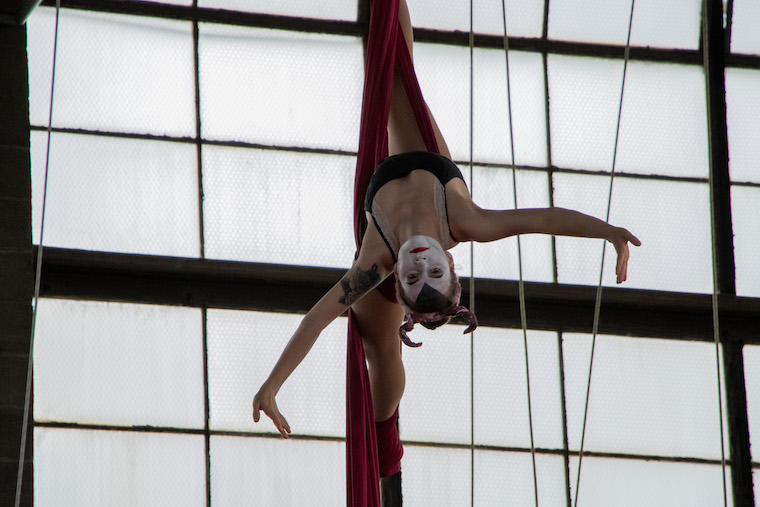 Hannah in the silks