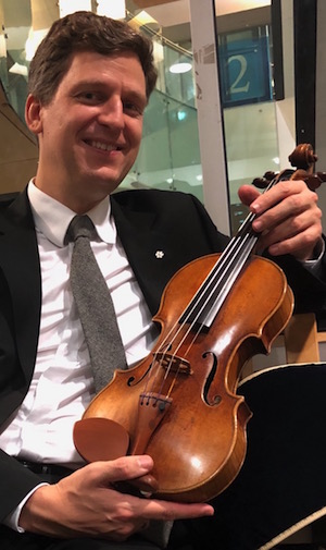 James Ehnes with Oberlin Strad photo