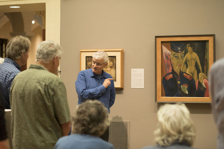 Leonard Smith presenting at museum