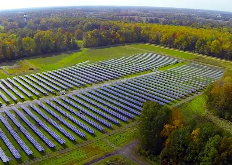 A solar array field